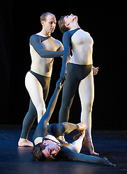 Nearly Ninety<br /> The Merce Cunningham Dance Company <br /> choreography by Merce Cunningham<br /> at The Barbican Theatre, London, Great Britain <br /> rehesrsal <br /> 26th October 2010 <br /> <br /> <br /> Silas Riener<br /> Jamie Scott<br /> John Hinrichs<br /> <br /> <br /> Photograph by Elliott Franks<br /> 2010©Elliott Franks