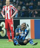 23-02-2011 INTER - CHAMPIONS LEAGUE 2010/2011 OTTAVI DI FINALE  INTER BAYERN MONACO<br /> NELLA FOTO: ETO'O
