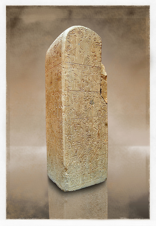 Picture & image of a Hittite Monument with Heiroglyphics  from Sultanhani near Kayseri, Turkey. Ereceted by the town ruler Wassume to the God Tarhui to ask for a good harvest from the vineyards & Orchards. At the end is a warning of damnation for anyone who damages the monument. Museum of Anatolian Civilisations, Ankara.