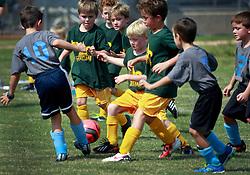 21 September 2013. Carrolton Boosters Soccer. New Orleans, Louisiana. <br /> U8 Jesters v Blue Marlins.<br /> Photo; Charlie Varley