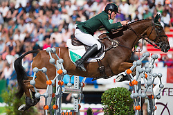 Sam Watson, (IRL), Horseware Bushman - Jumping Eventing - Alltech FEI World Equestrian Games™ 2014 - Normandy, France.<br /> © Hippo Foto Team - Jon Stroud<br /> 31-08-14