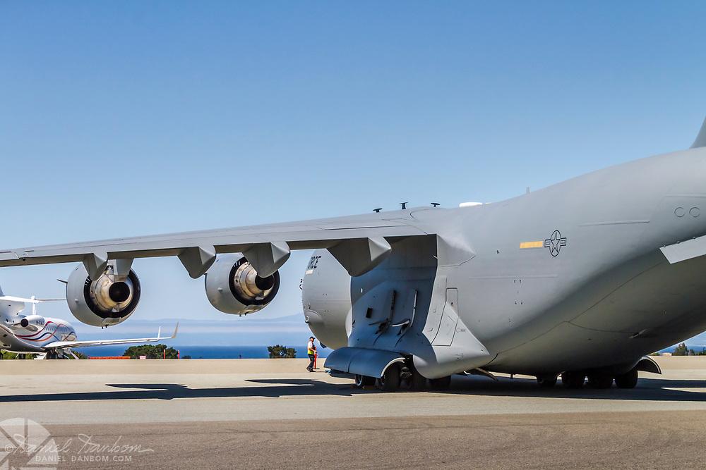 Boeing C-17A Globemaster III, on the ramp, MRY, Monterey, California