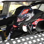 Racecar driver Austin Dillon is seen in his car during the  56th Annual NASCAR Daytona 500 practice session at Daytona International Speedway on Wednesday, February 19, 2014 in Daytona Beach, Florida.  (AP Photo/Alex Menendez)