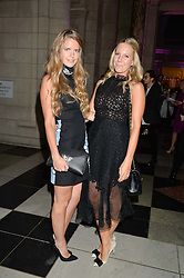 Left to right, KATIE READMAN and ALICE NAYLOR-LEYLAND at a private view of 'Horst: Photographer of Style' at The V&A Museum, London on 3rd September 2014.