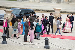 © Licensed to London News Pictures. 27/03/2015. Shah Rukh Khan (pictured centre right in black suit) filming for his new Bollywood production 'FAN' at Blenheim Palace in Woodstock, Oxfordshire, UK on March 27, 2015. Shah Rukh Khan (Also known as SRK) has appeared in more than 80 Bollywood films and is considered to be one of the worlds biggest film and television stars. Photo credit: Mark Hemsworth/LNP
