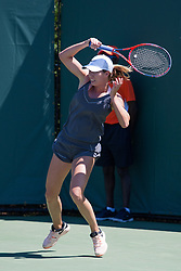 March 23, 2018 - Key Biscayne, FL, U.S. - KEY BISCAYNE, FL - MARCH 23: Danielle Collins (USA) in action on Day 5 of the Miami Open at Crandon Park Tennis Center on March 23, 2018, in Key Biscayne, FL. (Photo by Aaron Gilbert/Icon Sportswire) (Credit Image: © Aaron Gilbert/Icon SMI via ZUMA Press)