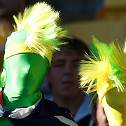Australian fans during the South Africa V Australia Quarter Final match at the IRB Rugby World Cup tournament. Wellington Regional Stadium, Wellington, New Zealand, 9th October 2011. Photo Tim Clayton...
