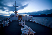 Patagonian sunrise as seen from ship, Patagonia, Chile