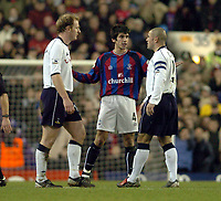 Picture: Henry Browne.<br /> Date: 03/01/2004.<br /> Tottenham Hotspur v Crystal Palace FA Cup 3rd Round.<br /> Danny Butterfield of Palace asks the Spurs players if he's been sent off or not.
