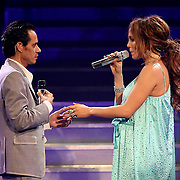 Jennifer Lopez performs with Marc Anthony during the Superstar Concert at the Amway Arena in Orlando, Florida on November 4, 2007..(Photo credit: Alex Menendez)