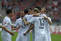 BILDET INNGÅR IKKE I FASTAVTALENE PÅ NETT MEN MÅ KJØPES SEPARAT<br /> <br /> Fotball<br /> Tyskland<br /> Foto: imago/Digitalsport<br /> NORWAY ONLY<br /> <br /> 13.08.2011 <br /> 1.Bundesliga Saison 2011/2012, 2.Spieltag, 1.FC Nürnberg - Hannover 96, im Easy-Credit-Stadion Nürnberg. <br /> <br /> Torjubel nach dem Treffer von Mohammed Abdellaoue (Hannover) zum 0:1 Treffer