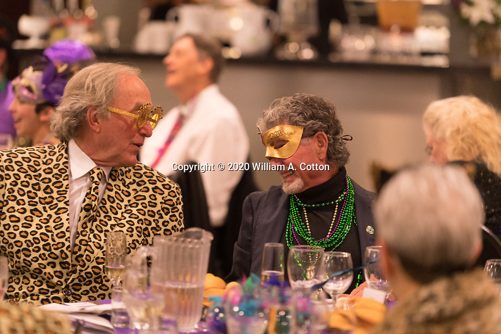 Bas Bleu Theatre Company holds its Mardi Gras fundraising event at the Windsong Estate Event Center, February 22, 2020.