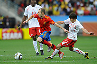 FOOTBALL - FIFA WORLD CUP 2010 - GROUP STAGE - GROUP H - SPAIN v SWITZERLAND - 16/06/2010 - PHOTO GUY JEFFROY / DPPI - ANDRES INIESTA (SPA)