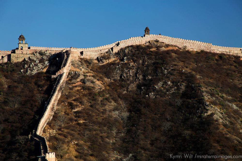 Asia, India, Amer. Amber Palace Fortress Walls.
