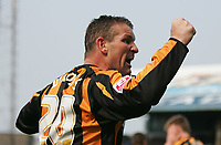 Photo: Lee Earle.<br /> Cardiff City v Hull City. Coca Cola Championship. 28/04/2007.Hull's Dean Windass celebrates after scoring their opening goal.