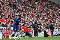 Football - 2018 / 2019 Premier League - Liverpool vs. Chelsea<br /> <br /> Callum Hudson Odoi of Chelsea, at Anfield.<br /> <br /> COLORSPORT/PAUL GREENWOOD