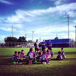17 August 2015. New Orleans, Louisiana.<br /> First day of training for the U10 New Orleans Jesters. And another season begins. <br /> Photo©; Charlie Varley/varleypix.com