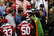 1/29/13 New Orleans LA.-Media Day at the the Mercedes Benz Super Dome for the NFC champion San Francisco 49ers's and the AFC Champions  Baltimore Ravens  prior to Super Bowl XLV11 in New Orleans. Photo©Suzi Altman