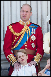June 8, 2019 - London, London, United Kingdom - Image licensed to i-Images Picture Agency. 08/06/2019. London, United Kingdom. Duke of Cambridge Prince George   at Trooping the Colour in London. (Credit Image: © Stephen Lock/i-Images via ZUMA Press)