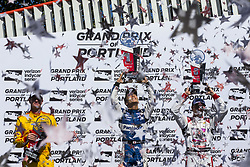 September 2, 2018 - Portland, Oregon, United Stated - TAKUMA SATO (30) of Japan wins the Portland International Raceway at Portland International Raceway in Portland, Oregon. RYAN HUNTER-REAY (28) of the United States finishes second and SEBASTIEN BOURDAIS (18) of France finishes in third place. (Credit Image: © Justin R. Noe Asp Inc/ASP via ZUMA Wire)