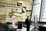 HUNTSVILLE, AL – APRIL 2, 2014: Executive Director Rick Tucker stands in the newly renovated waiting area at Huntsville International Airport. In an attempt to reverse the trend of declining service by airlines in small airports, Huntsville International Airport attempted to implement a rebate plan that would offer incentives to some carriers for enhanced service to the midsize city. The Federal Aviation Administration cautioned that the plan could potentially violate a federal law barring interference with airline fares, routes or service levels. When the industry's largest trade group, Airlines for America, threatened to, the airport's plan was disrupted. As major airlines continue to trim service offerings in smaller, less profitable cities, airports like Huntsville International struggle to attract and maintain carriers. CREDIT: Bob Miller for The Wall Street Journal<br /> SMALLAIRPORT