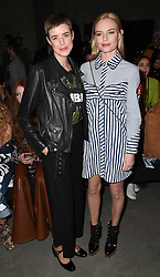 Agyness Dean and Kate Bosworth attending the House of Holland Autumn/Winter 2017 London Fashion Week show at the Tate Modern, London. Photo credit should read: Doug Peters/ EMPICS Entertainment