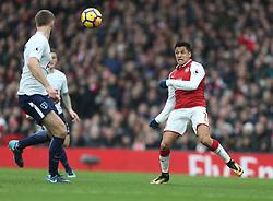 18 November 2017 London : Premier League Football : Arsenal v Tottenham Hotspur - Alexis Sanchez of Arsenal .<br /> (photo by Mark Leech)