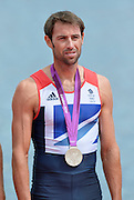 Eton Dorney, Windsor, Great Britain,..2012 London Olympic Regatta, Dorney Lake. Eton Rowing Centre, Berkshire.  Dorney Lake.  .GBR LM 2X Silver Medalist, Mark HUNTER...12:56:04  Saturday  04/08/2012 [Mandatory Credit: Peter Spurrier/Intersport Images]