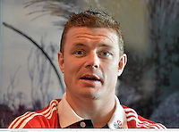 3 June 2013; Brian O'Driscoll, British & Irish Lions, during a press conference following the team announcement ahead of their game against Western Force, on Wednesday, where he will captain the side. British & Irish Lions Tour 2013, Team Announcement, River Room, Perth Conference & Exhibition Centre, Perth, Australia. Picture credit: Stephen McCarthy / SPORTSFILE