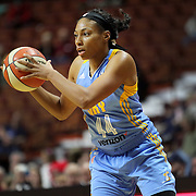 UNCASVILLE, CONNECTICUT- MAY 05:  Betnijah Laney #44 of the Chicago Sky in action during the Atlanta Dream Vs Chicago Sky preseason WNBA game at Mohegan Sun Arena on May 05, 2016 in Uncasville. (Photo by Tim Clayton/Corbis via Getty Images)