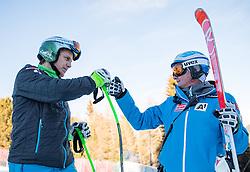 27.12.2016, Deborah Compagnoni Rennstrecke, Santa Caterina, ITA, FIS Ski Weltcup, Santa Caterina, Super G, Herren, Streckenbesichtigung, im Bild Otmar Striedinger (AUT), Andreas Puelacher (Sportlicher Leiter ÖSV Ski Alpin Herren) // Otmar Striedinger of Austria, Andreas Puelacher Austrian Ski Association head Coach alpine Men's during the course inspection for the men's SuperG of FIS Ski Alpine World Cup at the Deborah Compagnoni race course in Santa Caterina, Italy on 2016/12/27. EXPA Pictures © 2016, PhotoCredit: EXPA/ Johann Groder