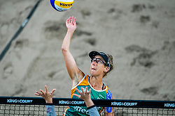 April Ross USA in action during the first day of the beach volleyball event King of the Court at Jaarbeursplein on September 9, 2020 in Utrecht.