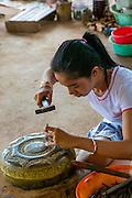 Silverware maker, Koh Chen, Cambodia