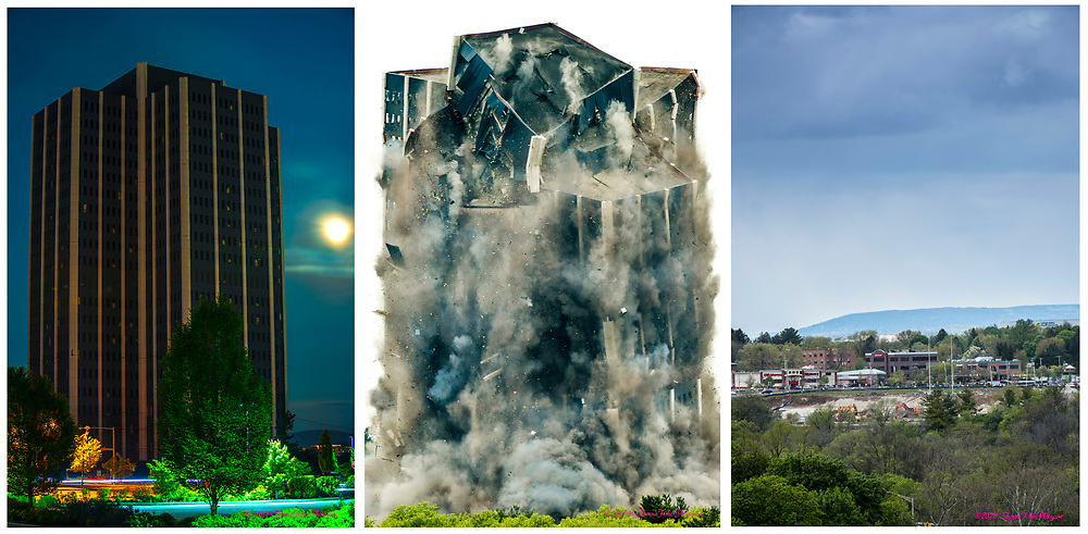 Martin Tower, former world headquarters of Bethlehem Steel Corp., was imploded on Sunday, May 19, 2019. Here is a look at the implosion site at the intersection of Eaton Avenue and Eighth Avenue in Bethlehem, Pa. nearly one year later on May 9, 2020.<br /> - Photography by Donna Fisher<br /> - ©2020 - Donna Fisher Photography, LLC                      - donnafisherphoto.com