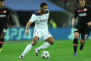 Mousa Dembele of Tottenham Hotspur in action. UEFA Champions league match, group E, Tottenham Hotspur v Bayer Leverkusen at Wembley Stadium in London on Wednesday 2nd November 2016.<br /> pic by John Patrick Fletcher, Andrew Orchard sports photography.