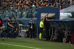 November 5, 2019, Saint-Petersburg, Russia: Russian Federation. Saint-Petersburg. Gazprom Arena. Football. UEFA Champions League. Group G. round 4. Football club Zenit - Football Club RB Leipzig. Player of VAR, video replay, video, video assistant, view, The main referee Orel Greenfield, judge (Credit Image: © Russian Look via ZUMA Wire)