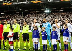 27.02.2020, Linzer Stadion, Linz, AUT, UEFA EL, LASK vs AZ Alkmaar, Sechzehntelfinale, im Bild v.l. Schiedsrichter Srdjan Jovanovic (SRB), Gernot Trauner (LASK Linz), Tormann Alexander Schlager (LASK), James Holland (LASK), Peter Michorl (LASK) // v.l. Schiedsrichter Srdjan Jovanovic (SRB), Gernot Trauner (LASK Linz), Tormann Alexander Schlager (LASK), James Holland (LASK), Peter Michorl (LASK) during the UEFA Europa League round of the last 32, 2nd leg match between LASK and AZ Alkmaar at the Linzer Stadion in Linz, Austria on 2020/02/27. EXPA Pictures © 2020, PhotoCredit: EXPA/ Reinhard Eisenbauer