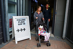 © Licensed to London News Pictures. 18/09/2014. Glasgow, UK. People of Scotland going to polling stations in Glasgow to vote on the Scottish independence referendum on Thursday, 18 September 2014. Photo credit : Tolga Akmen/LNP