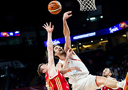 Andrey Vorontsevich of Russia vs Pau Gasol of Spain during basketball match between National Teams  Spain and Russia at Day 18 in 3rd place match of the FIBA EuroBasket 2017 at Sinan Erdem Dome in Istanbul, Turkey on September 17, 2017. Photo by Vid Ponikvar / Sportida
