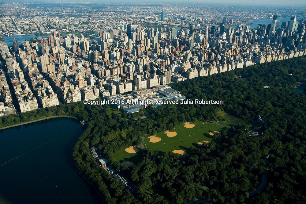 Aerial views of Central Park Zoo, Midtown Manhattan, New York