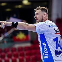 Jacob Bagersted (FRISCH AUF! Goeppingen #14) ; LIQUI MOLY HBL 20/21  1. Handball-Bundesliga: TVB Stuttgart - FRISCH AUF! Goeppingen am 24.04.2021 in Stuttgart (SCHARRena), Baden-Wuerttemberg, Deutschland beim Spiel in der Handball Bundesliga, TVB 1898 Stuttgart - FRISCH AUF! Goeppingen.<br /> <br /> Foto © PIX-Sportfotos *** Foto ist honorarpflichtig! *** Auf Anfrage in hoeherer Qualitaet/Aufloesung. Belegexemplar erbeten. Veroeffentlichung ausschliesslich fuer journalistisch-publizistische Zwecke. For editorial use only.