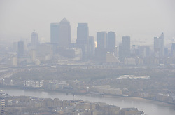 Embargoed to 0001 Friday May 5 File photo dated 10/04/15 of air pollution over London. Government plans to tackle illegal air pollution should include schemes to keep dirty diesels out of towns and fine car companies who cheated on emissions tests, the Green Party has urged.