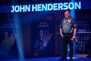 John Henderson (Scotland) walk-on during the William Hill World Darts Championship at Alexandra Palace, London, United Kingdom on 20 December 2020.