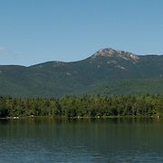 Panorama of Lonesome Lake and the Franconia Range, in the White Mountain National Forest, New Hampshire.