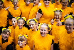 © Licensed to London News Pictures . 17/06/2018. Manchester , UK . Youngsters dressed up as bees , the symbol of Manchester . The 2018 Manchester Day parade , celebrating Manchester's cultural and social life and diversity, passes through Manchester City Centre . Photo credit : Joel Goodman/LNP