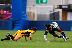 Jade Shekells of Worcester Warriors Women goes to ground - Mandatory by-line: Nick Browning/JMP - 24/10/2020 - RUGBY - Sixways Stadium - Worcester, England - Worcester Warriors Women v Wasps FC Ladies - Allianz Premier 15s