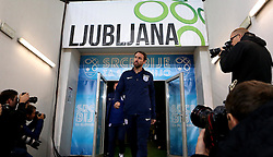 England interim manager Gareth Southgate arrives for the Press Conference at SRC Stozice Stadium ahead of the World Cup Qualifier against Slovenia - Mandatory by-line: Robbie Stephenson/JMP - 10/10/2016 - FOOTBALL - SRC Stozice - Ljubljana, England - England Press Conference