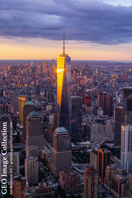 The Freedom Tower with Midtown in the background. New York City