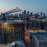 Arterra Apartments Under Construction, Crossroads District, Kansas City, Missouri; July 2018.