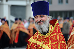 April 28, 2019 - Tambov, Tambov region, Russia - Easter procession in Tambov ( Russia). In a picture – Ministers of the Russian Orthodox Church during the Easter Procession. (Credit Image: © Demian Stringer/ZUMA Wire)